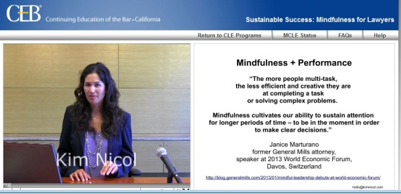 Sustainable Success: Mindfulness for Lawyers - CEB