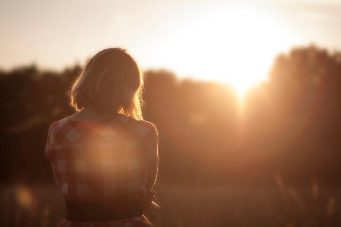 sunset girl - unsplash